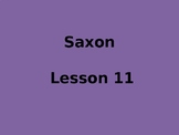 Saxon Aligned Powerpoint Lessons 10-15