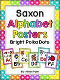 Saxon Phonics Alphabet Posters {bright polka dots}