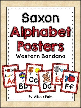 Saxon Phonics Alphabet Posters {western bandana}