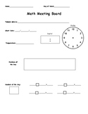 Saxon Calendar Meeting Board