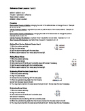 Saxon Course 1 Math Reference Sheets for Lessons 1-32