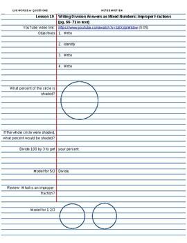Saxon Course 2 Lesson 10 Video Notes