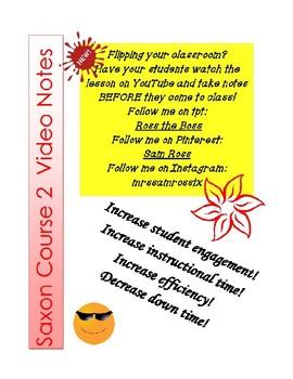 Saxon Course 2 Lesson 12 Video Notes