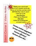 Saxon Course 2 Lesson 13 Video Notes