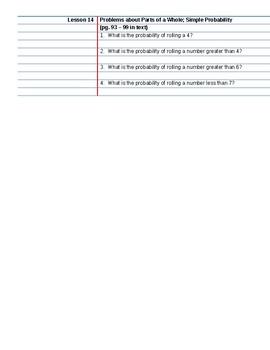 Saxon Course 2 Lesson 14 Video Notes