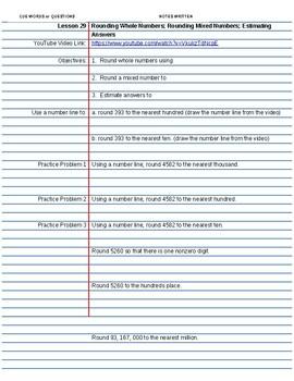 Saxon Course 2 Lesson 29 Video Notes