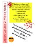 Saxon Course 2 Lesson 34 Video Notes
