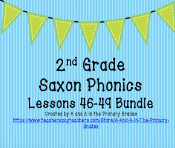 2nd Grade Saxon Phonics Lessons 46-49