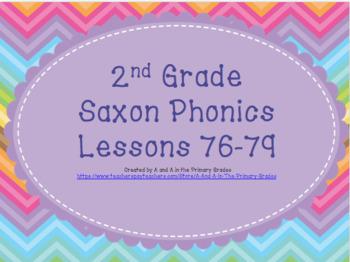 2nd Grade Saxon Phonics Lessons 76-79