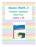 Saxon 2 Math  Assessment Lessons 1-30