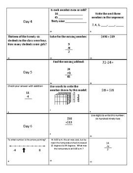 Saxon Math 4th Grade Flash Math- lessons 16-20