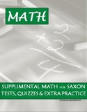 Saxon Math 5/4 51-55 Lessons, Quizzes, Tests, and Answer Keys