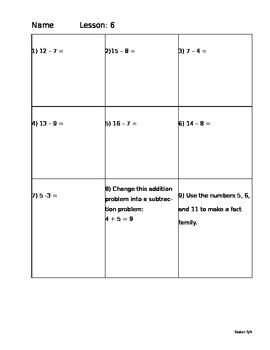 Saxon Math 5/4 Homework Paper Lesson 6