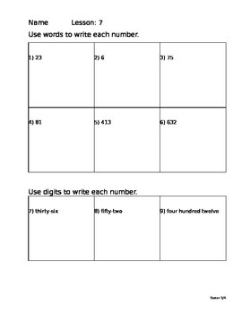 Saxon Math 5/4 Homework Paper Lesson 7