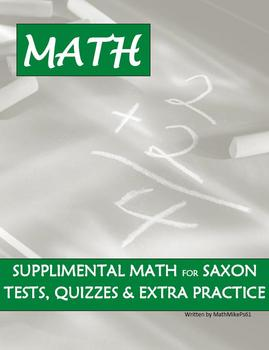 Saxon Math 8/7 11 - 15 Lessons, Quizzes, Tests and Answer Keys