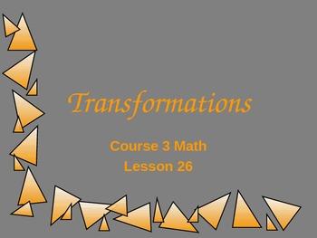 Saxon Math Course 3 Lesson 26 (PowerPoint)