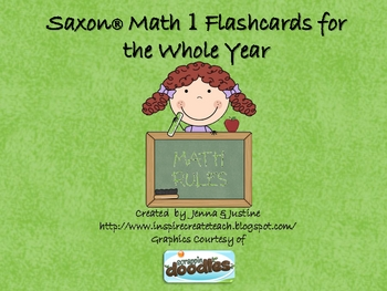 Saxon Math Flashcards - 1st Grade