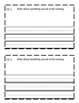 Saxon Math (Grade 1) Journal Writing- Lessons 1-60