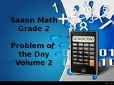 Saxon Math Grade 2 Volume 2 Problem of the Day