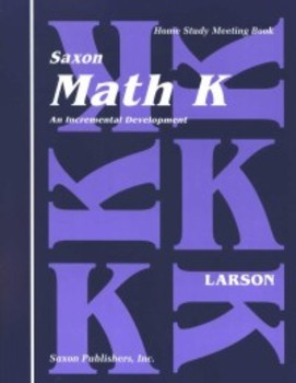 Saxon Math Homeschool Kindergarten
