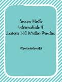 Saxon Math Intermediate 4 Written Practice Lessons 1-10