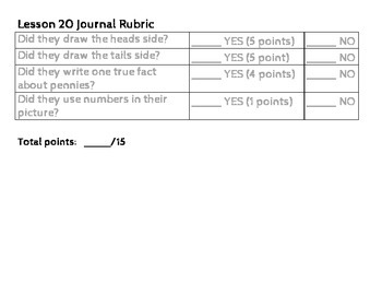Saxon Math Journal Prompt Lessons 1-105 with Rubrics {First Grade}