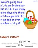 Saxon Math Meeting Lesson 1 through Lesson 15-2 - 3rd Grade Daily Math