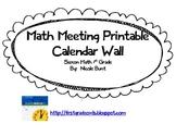 Saxon Math Meeting Calendar Pages 1st Grade