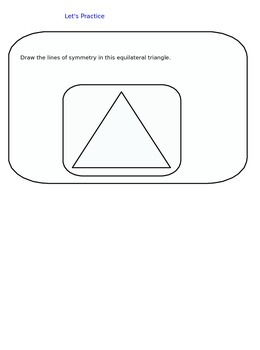 Lesson 47 How To Draw A Reflection Across A Line Of Symmetry