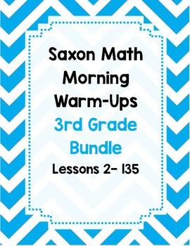 Saxon Math Morning Meeting BUNDLE Lessons 2 - 135 *WHOLE YEAR*