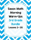 Saxon Math Morning Meeting BUNDLE Lessons 2 - 135 *WHOLE YEAR*