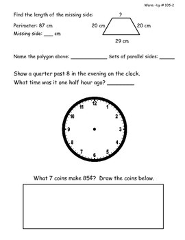 Saxon Math Morning Meeting Lessons 101 - 110-2