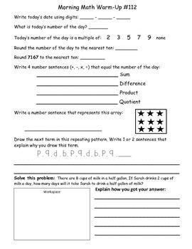 Saxon Math Morning Meeting Lessons 111 - 120-2