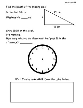 Saxon Math Morning Meeting Lessons 91 - 100-2