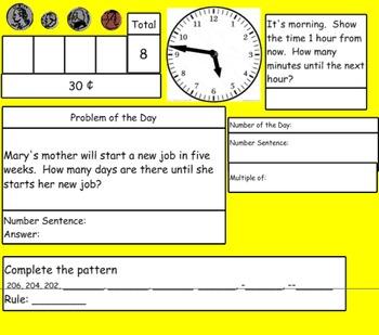 Saxon Math Morning Meetings for SMART Board Grade 3