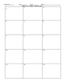 Saxon Math Problem Set Organizer Grid