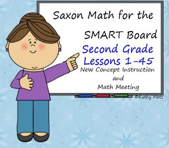 Saxon Math for the SMART Board:  Second Grade Bundle Lessons 1-45!