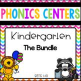 Phonics Centers Kindergarten Sets- Bundled