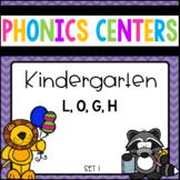 Phonics Centers Kindergarten Set 1 ( L, O, G, H)