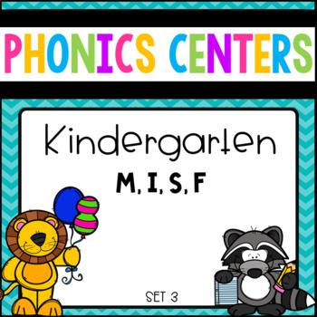 Phonics Centers Kindergarten Set 3 ( M, I, S, F)
