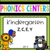 Phonics Centers Kindergarten Set 5 ( Z, C, E, Y)