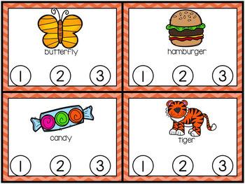 Phonics Centers Kindergarten Set 6 ( D, V, J, X)