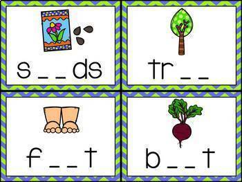 Phonics Centers Kindergarten Set 10