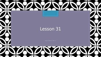 Saxon Phonics 2nd Grade Lesson 31