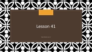 Saxon Phonics 2nd Grade Lesson 41