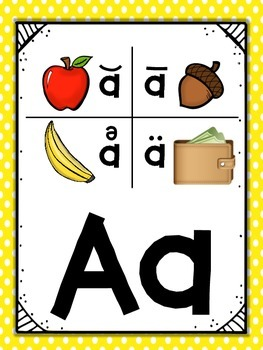 Saxon Phonics Alphabet Cards {First Grade Posters} {Many Background Designs}