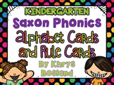 Saxon Phonics Alphabet Cards {Kindergarten Posters} {All Rules Included}