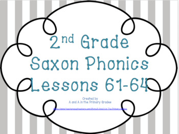 Saxon Phonics Bundle 61-64