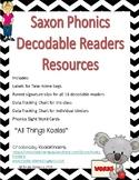 Saxon Phonics Decodable Readers Resource Pack K with Koala graphics