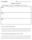 First Grade Saxon Phonics  Decodable Readers Comprehension Question Worksheets